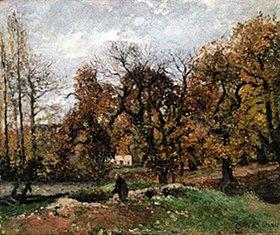 Camille Pissarro: Herbstlandschaft bei Louveciennes