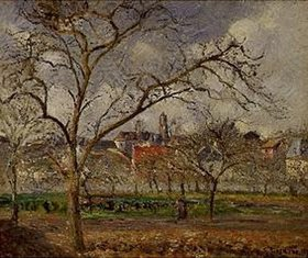 Camille Pissarro: Obstgarten bei Pontoise im frühen Winter