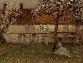 Henri Le Sidaner: Blühende Bäume in Gerberoy
