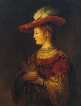 Rembrandt van Rijn: Bildnis der Saskia van Uylenburgh, der Gattin des Künstlers