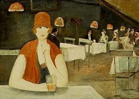 Lesser Ury: Szene im Café