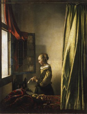 Jan Vermeer van Delft: Briefleserin am offenen Fenster