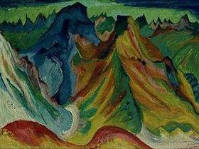 Ernst Ludwig Kirchner: Der Berg. Weissfluh und Schafgrind. 1921