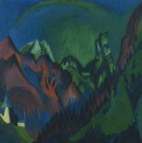 Ernst Ludwig Kirchner: Tinzenhorn, Zügenschlucht bei Monstein
