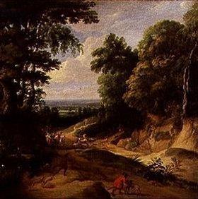 Jacques d` Arthois: Landschaft mit hohen Bäumen (Der Waldweg)
