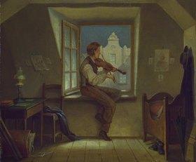 Moritz von Schwind: Der Geigenspieler am Fenster