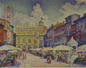 Paul Signac: Piazza d'Erbe in Verona