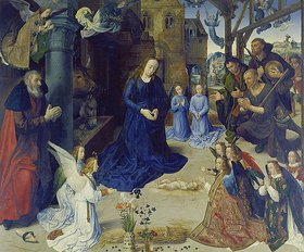 Hugo van der Goes: Portinari-Altar. Mittelbild: Anbetung der Hirten