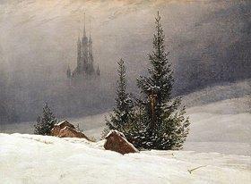 Caspar David Friedrich: Winterlandschaft mit Kirche