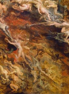 Peter Paul Rubens: Höllensturz der Verdammten. Detail mitte rechts