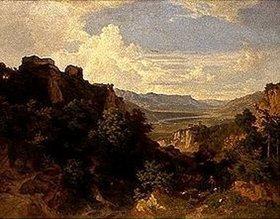 Bernhard Fries: Landschaft bei Meran