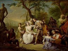 Franz Christoph Janneck: Musikgesellschaft in einem Garten