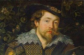 Peter Paul Rubens: Selbstbildnis um 1610. Detail aus Rubens und Isabella Brant in der Geiß