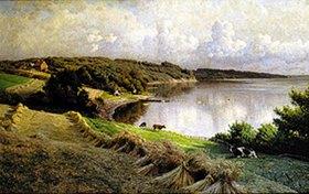 Peder Moensted: Fakkegrav am Vejlefjord