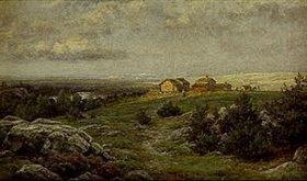 Berndt Lindholm: Weite schwedische Landschaft in Jämtland