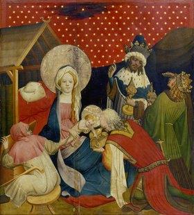 Meister Francke: Die Anbetung der heiligen drei Könige (Tafel des Thomas-Altars)