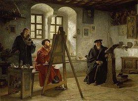 Heinrich Stelzner: Cranach malt Luther auf der Wartburg