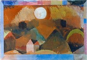 Paul Klee: Landschaft in rot mit dem weißen Gestirn