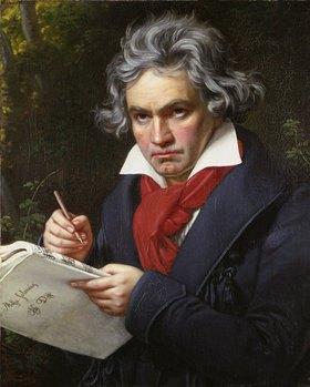 Joseph Karl Stieler: Bildnis Ludwig van Beethoven beim Komponieren der Missa Solemnis, Bonn