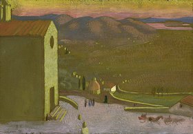 Maurice Denis: Italienische Landschaft (Ansicht von Cortona)