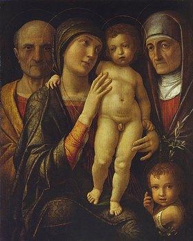 Andrea Mantegna: Die hl.Familie mit Elisabeth und dem Johannesknaben