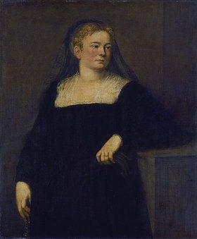 Tintoretto (Jacopo Robusti): Bildnis einer Dame in Trauer. (Frühwerk)