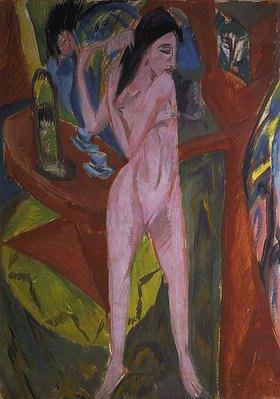 Ernst Ludwig Kirchner: Sich kämmender Akt