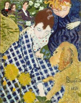 Pierre Bonnard: Mutter mit Kind und Hund