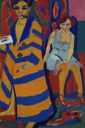 Ernst Ludwig Kirchner: Selbstbildnis mit Modell 1910 (übermalt 1926)