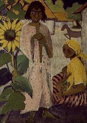 Otto Mueller: Zigeuner mit Sonnenblume
