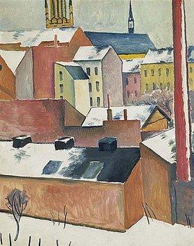 August Macke: Marienkirche im Schnee. 1911.