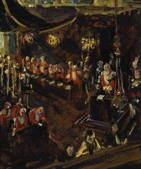 Max Slevogt: Prinzregent Luitpold im Betstuhl bei der Trauermesse