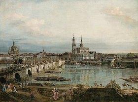 Bernardo (Canaletto) Bellotto: Blick auf die Altstadt von Dresden