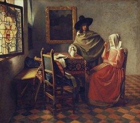 Jan Vermeer van Delft: Das Glas Wein