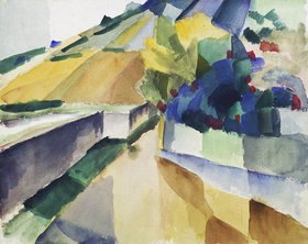 August Macke: Weinberge am Murtensee