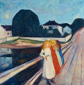 Edvard Munch: Vier M�dchen auf der Br�cke. 1905