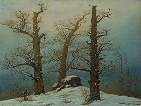 Caspar David Friedrich: Hünengrab im Schnee