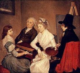 Georg Ludwig Eckhardt: Selbstbildnis mit Familie