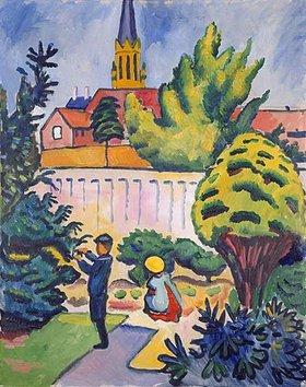 August Macke: Kinder im Garten