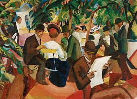 August Macke: Gartenrestaurant
