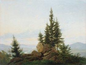 Caspar David Friedrich: Blick in das Tal der Elbe