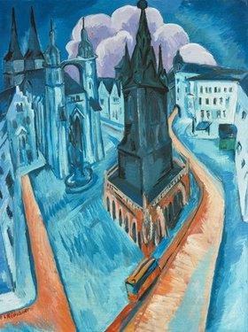Ernst Ludwig Kirchner: Der rote Turm in Halle