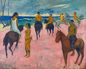 Paul Gauguin: Reiter am Strand