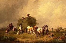 Johann Friedrich Voltz: Heuernte