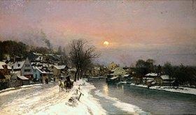 Anders Andersen-Lundby: Winter am Auer Mühlbach in München