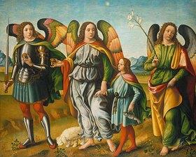 Francesco Botticini: Tobias und die drei Erzengel