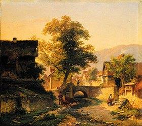 Anton Burger: Hessische Dorflandschaft (Steinbach?)