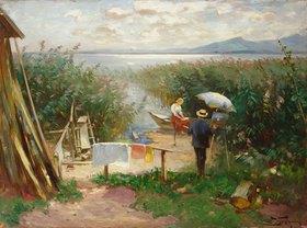 Joseph Wopfner: Maler am Chiemsee-Ufer