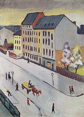 August Macke: Unsere Straße in Grau