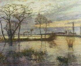 Otto Modersohn: Abend an der Wümme